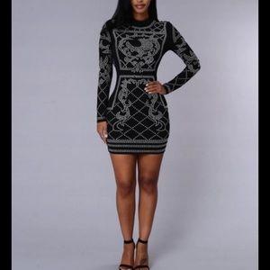 Black Clubwear Sexy Bodycon Dress